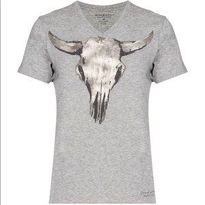 💛RALPH LAUREN cow skull graphic tee